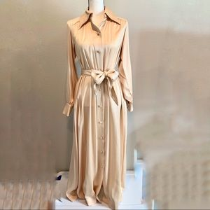Vintage holiday Hollywood maxi dress gold metallic